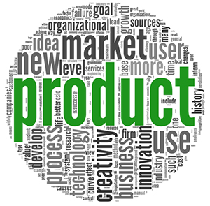Product concept words in tag cloud